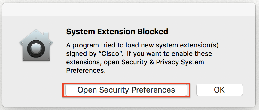 system extension blocked screen