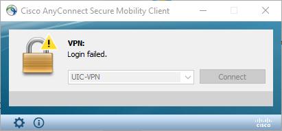 VPN Login Failed