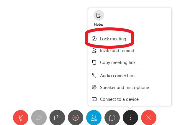 where to find lock meeting opiton