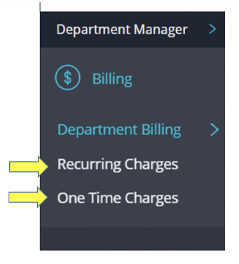 where to find recurring and one-time chargers