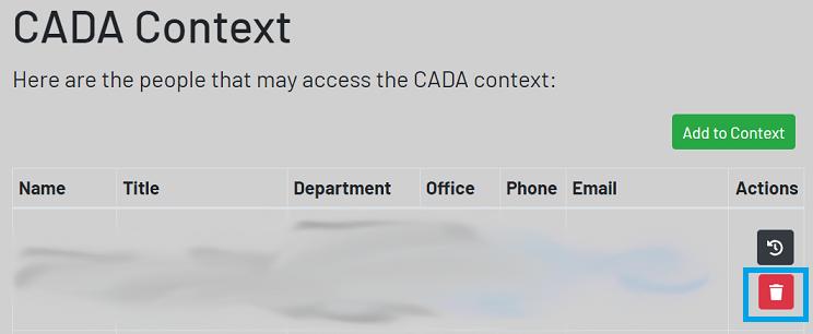 context screen highlighting trash button