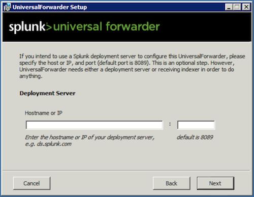 splunk deployment server screen