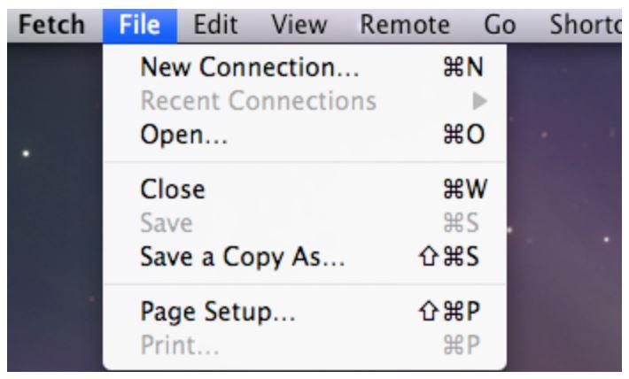 Mac Fetch File location