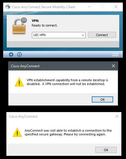 VPN RDP Error