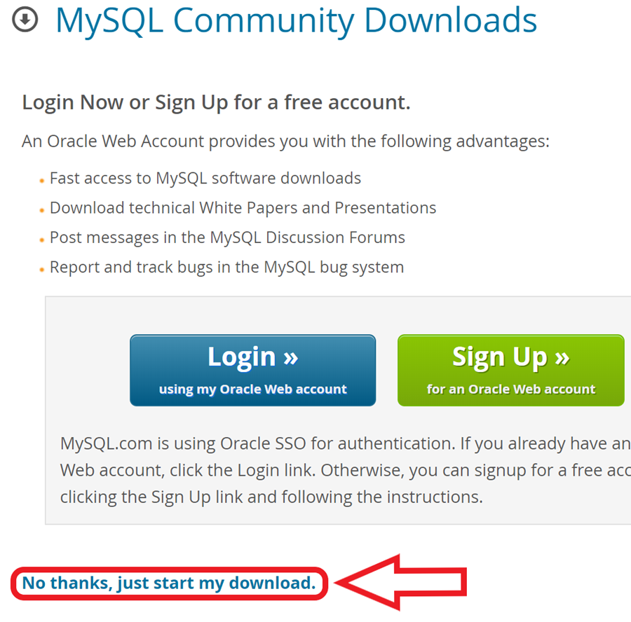 where to find start download button