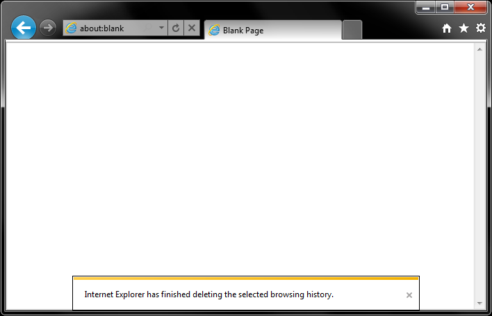 Confirmation of deleted browsing history
