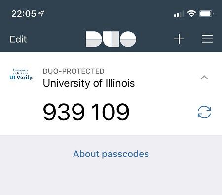 duo passcode screen