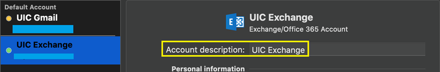 where to find U I C exchange in gmail account screen