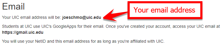 example message confirming email address