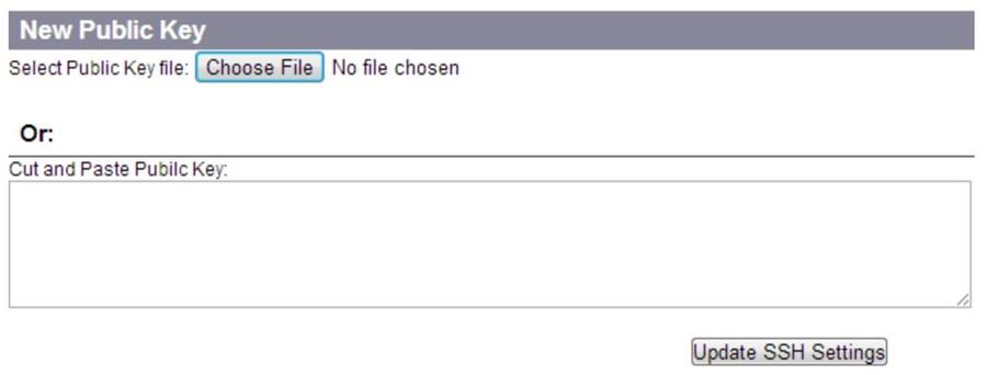 choose file buton for new public key