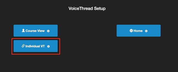 VT setup page
