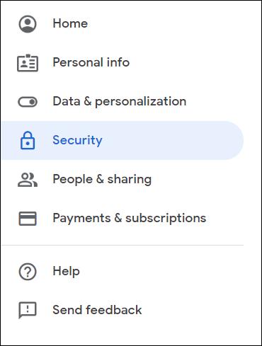 Select Google Apps settings