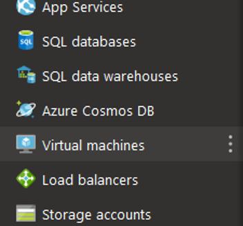 find virtual machines in menu