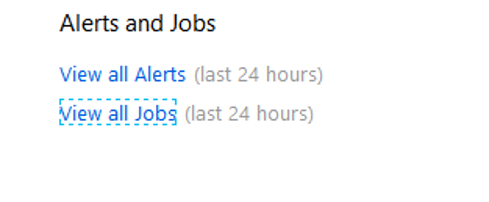 alerts and jobs example listing