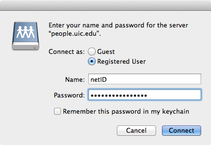 Mac login window