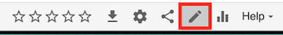 example of video options bar with a pencil icon for the edit function
