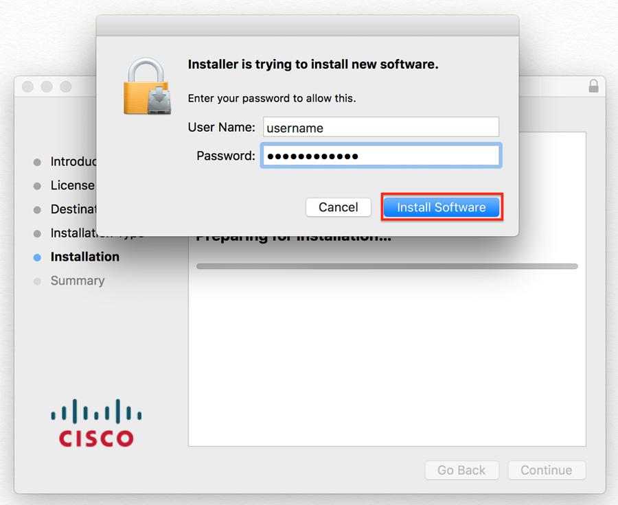 installer permission screen