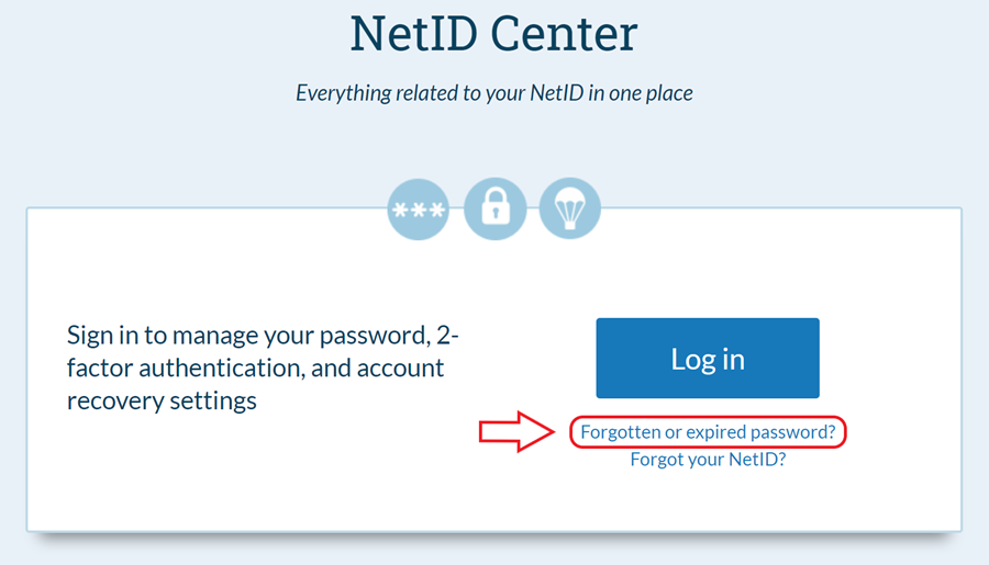 Net I D Center home page