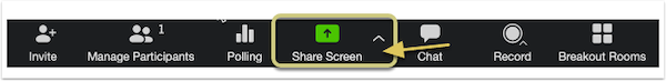 identifying the share screen button