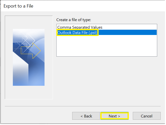 where to find outlook data file