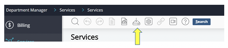 identifying download icon