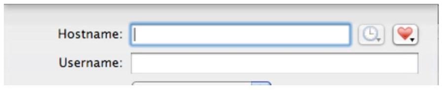 mac fields for server hostname and username