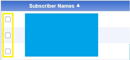 Subscriber Names screen