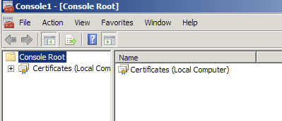 Find Certificate to export