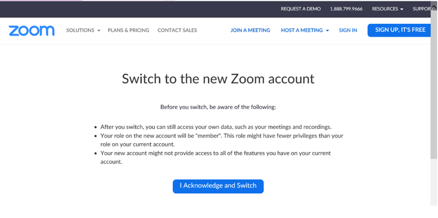 Zoom Confirm Switch Page