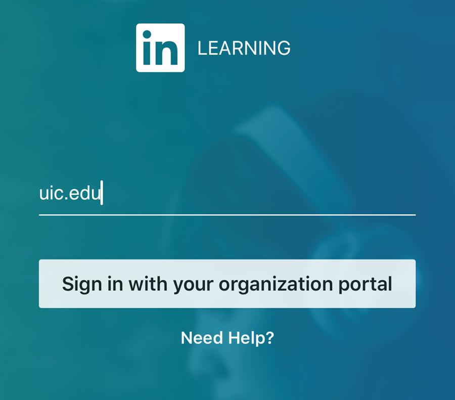 Enter uic.edu for the organization name.