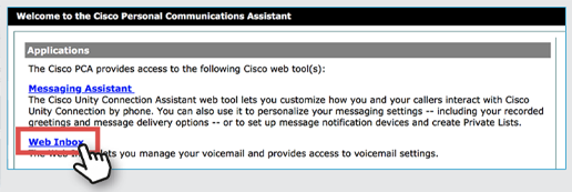 web inbox button