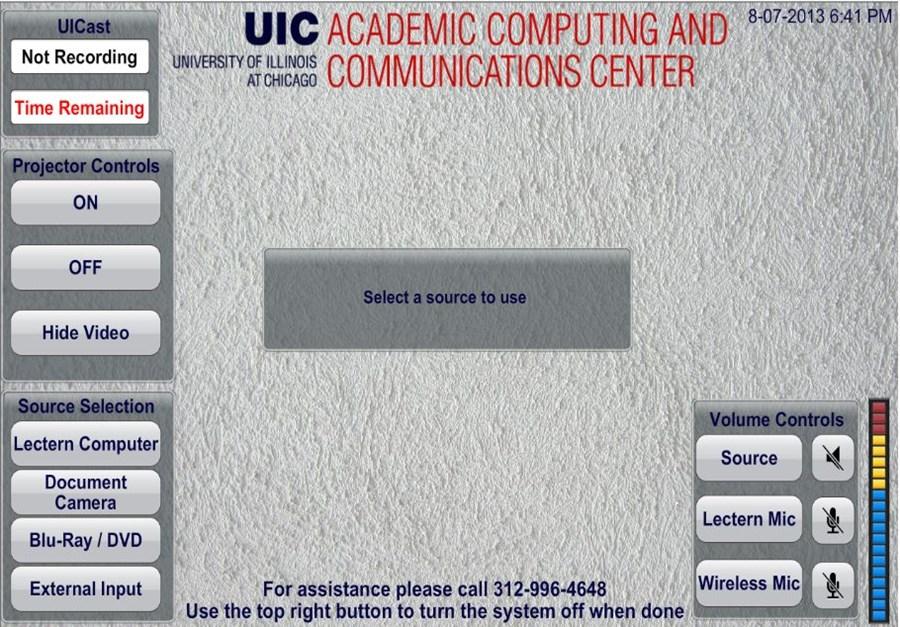 AV control screen