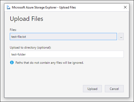 example upload files screen