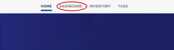identifying the dashboard button in the navigation