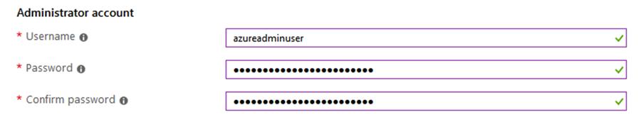 enter Admin info