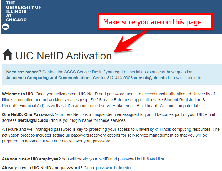 example net I D activation page