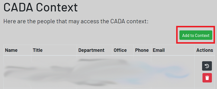where to find add to context button
