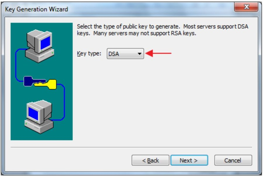 where to find key type selector