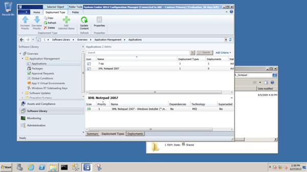 deployment type screen