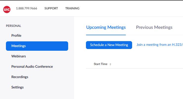 schedule meeting screen