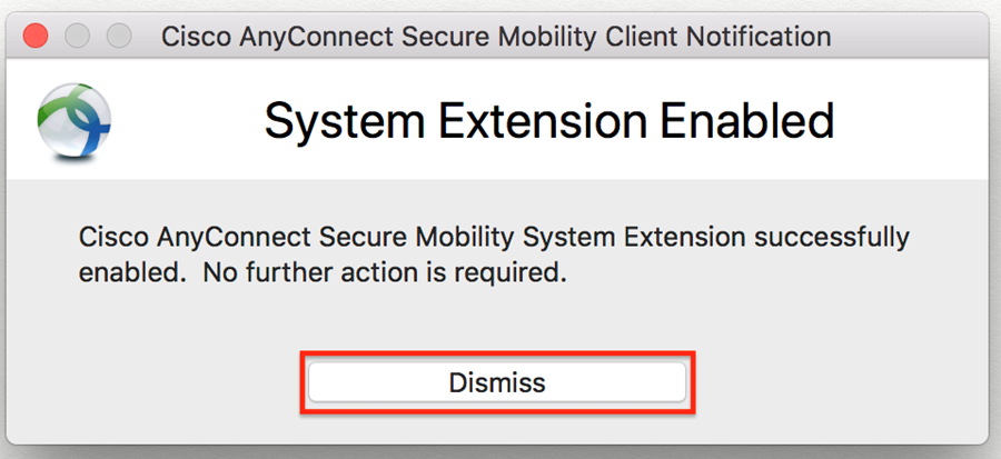 system extension enabled message