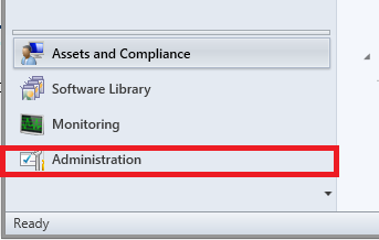 where to find administration button
