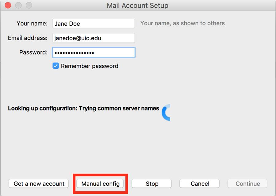 manual config button