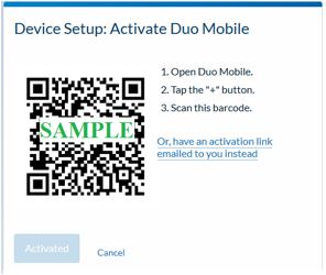 Activate Duo Mobile