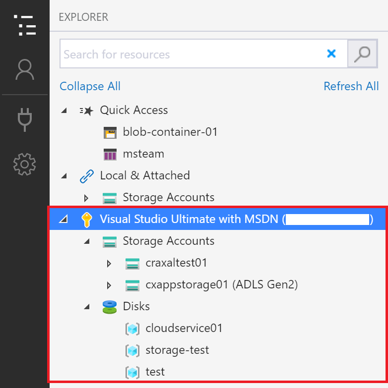 example of expanded storage accounts