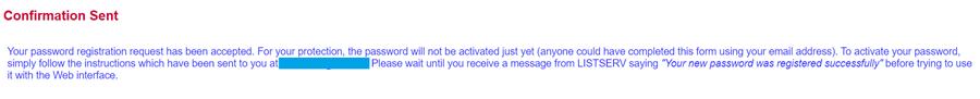 confirmation sent message