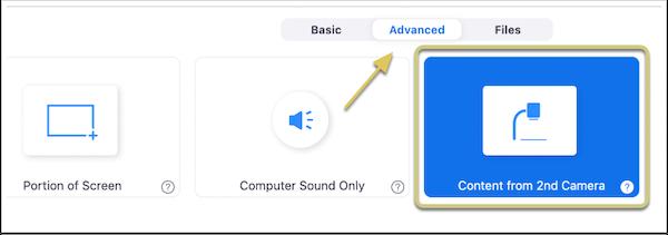identifying advanced button