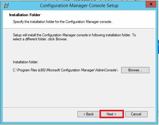 example installation folder screen
