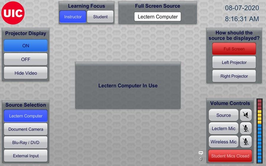 Alt source selection screen