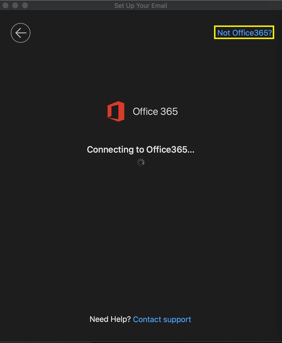 "Mac 10 Click ""Not Office365?"